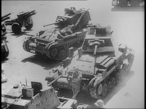 montage of tanks in egypt. - egypt stock videos & royalty-free footage