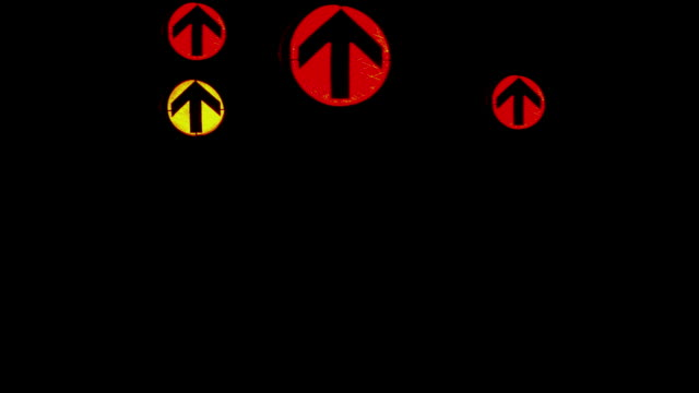 hd montage of traffic lights at night - red light stock videos & royalty-free footage