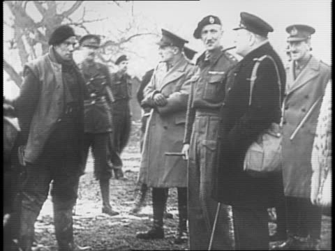 montage of winston churchill inspecting british military troops / royal air force planes seen from the air / raf pilot in cockpit / bird's eye view... - british military stock videos & royalty-free footage