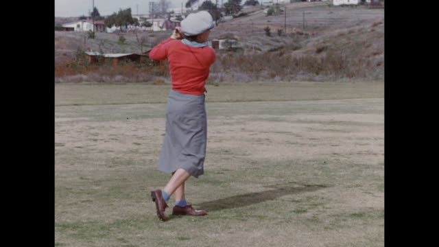 montage of women playing golf in palm springs. - stereotypically middle class stock videos & royalty-free footage