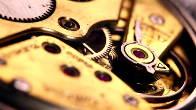 Montage: Old Pocket Watch Close Up
