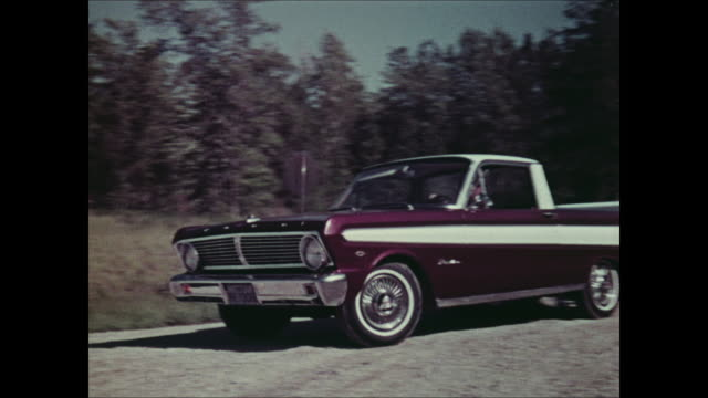 montage: revue of 1965 ford recreational vehicles - 1964 stock videos and b-roll footage