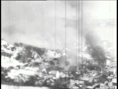 a montage shows scenes of nazis attacking norway and poland. - poland stock videos & royalty-free footage