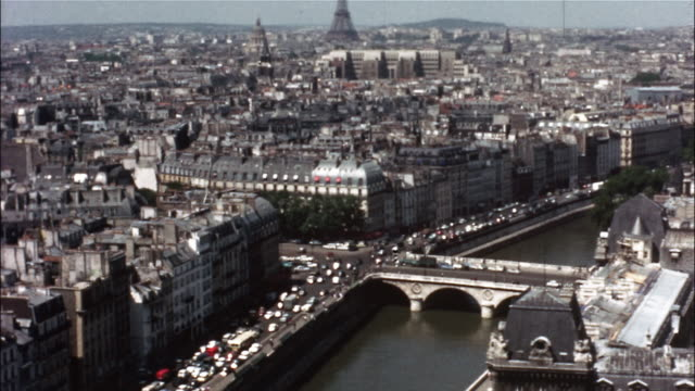 a montage shows the many attractions of paris, france. - basilique du sacre coeur montmartre stock videos and b-roll footage