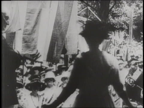 a montage shows the progression towards the vote on women's suffrage - human rights stock videos & royalty-free footage