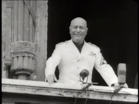 a montage shows the various sides of benito mussoli during the 1930's and 1940's - benito mussolini bildbanksvideor och videomaterial från bakom kulisserna