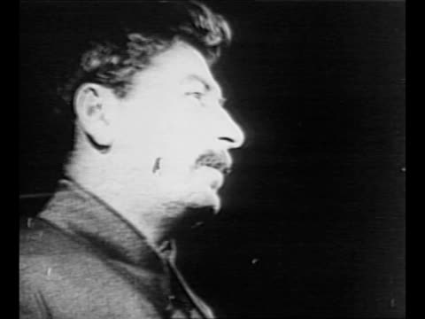 montage soviet leader joseph stalin / soviet army marches in red square / stalin with government officials on the top part of the tribune of the... - soviet military stock videos & royalty-free footage