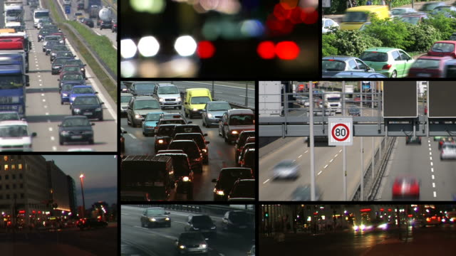 Montage - Traffic with many cars