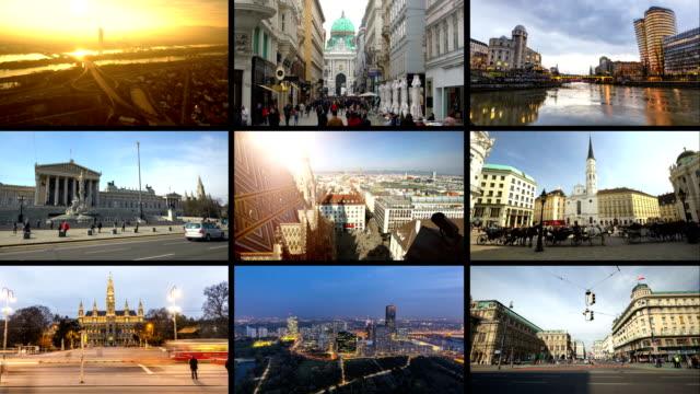 montage vienna - vienna stock videos and b-roll footage