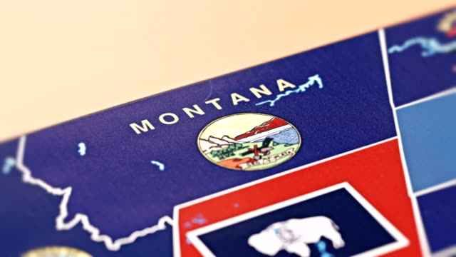 montana from usa states - stati del mid atlantic usa video stock e b–roll