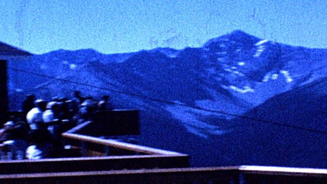 1962 montana glaciers - 路面軌道点の映像素材/bロール