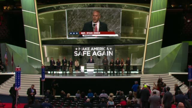 Montana Representative and former Navy SEAL Ryan Zinke tells convention delegates about being personally acquainted with detainees held at Guantanamo...