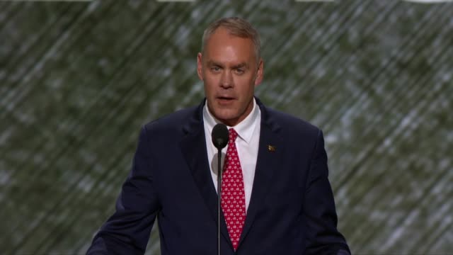 Montana Representative and former Navy SEAL Ryan Zinke tells convention delegates about the failures of the Obama administration and Hillary Clinton...