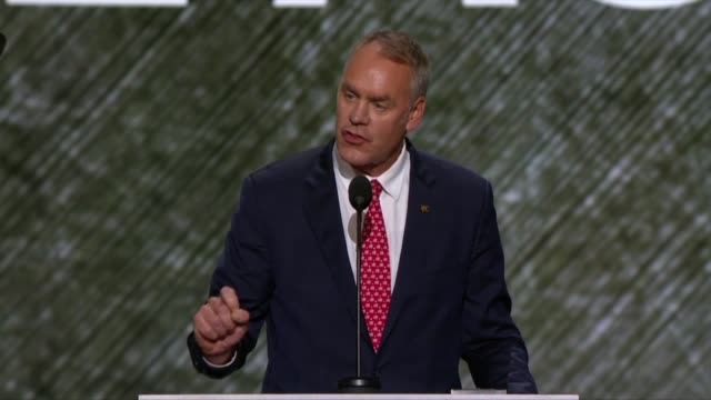 Montana Representative and former Navy SEAL Ryan Zinke tells convention delegates about why Hillary Clinton would be a bad Commander in Chief saying...