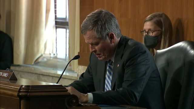 vídeos de stock, filmes e b-roll de montana senator steve daines says at a senate and natural resources committee legislative hearing to thank brave firefighters, smoke jumpers and... - bozeman