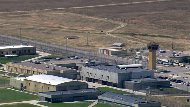 montana state prison  - aerial view - montana, powell county, united states - prison stock videos & royalty-free footage