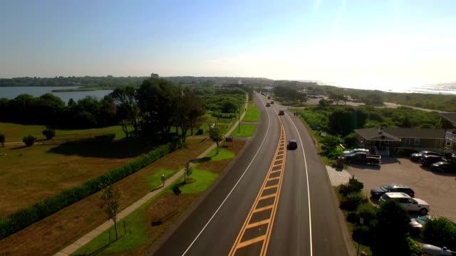 モントーク highway 4 - ロングアイランド点の映像素材/bロール