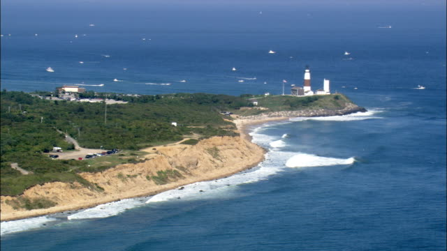 Montauk Lighthouse  - Aerial View - New York, Suffolk County, United States