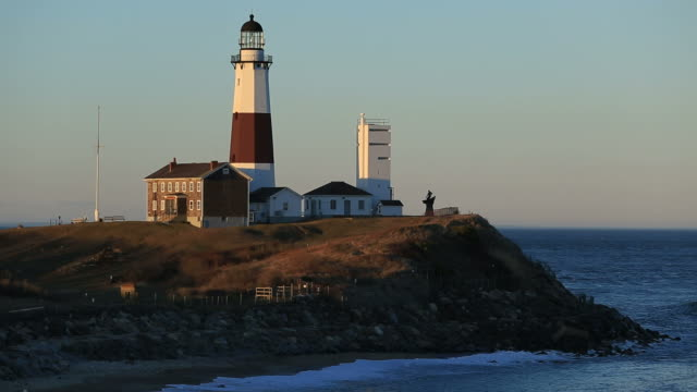 montauk point light - southampton hampshire stock-videos und b-roll-filmmaterial