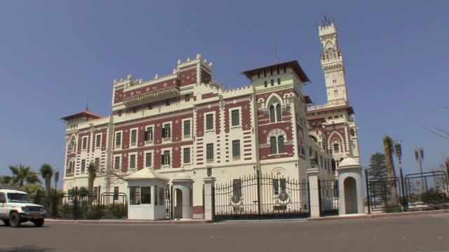 ws montazah moorish palace, alexandria, egypt - palacio stock videos & royalty-free footage