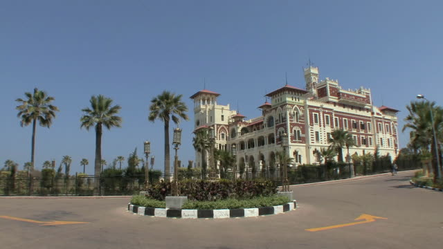 ws pan montazah moorish palace, alexandria, egypt - palacio stock videos & royalty-free footage