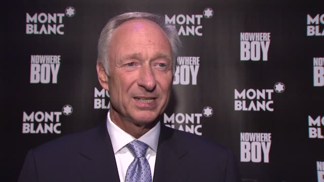 Montblanc CEO Lutz Bethge on what tonight's celebration is about on why they Montblanc is paying tribute to John Lennon at the Global Launch Of The...