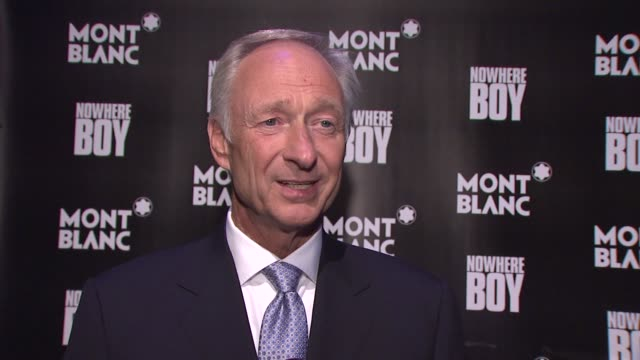 Montblanc CEO Lutz Bethge on what tonight's celebration is about on the proceeds raised going to arts education at the Global Launch Of The Montblanc...