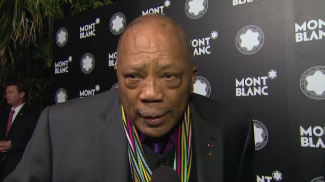 Montblanc honors Quincy Jones at the Montblanc de la Culture Arts Patronage Awards Ceremony Los Angeles California
