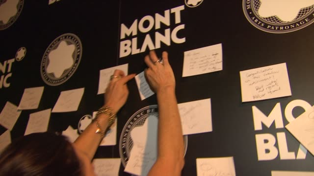 stockvideo's en b-roll-footage met montblanc wish wall at montblanc honors quincy jones at the montblanc de la culture arts patronage awards ceremony on 10/02/12 in los angeles... - arts culture and entertainment