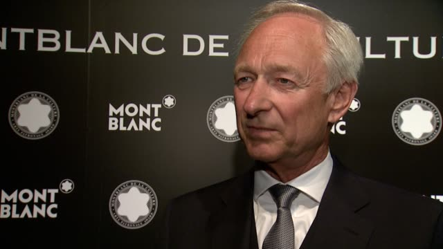 INTERVIEW Montblanc's Lutz Bethge on Montblanc taking arts patronage seriously on why Jane Rosenthal is deserving of this award at 23rd Annual...