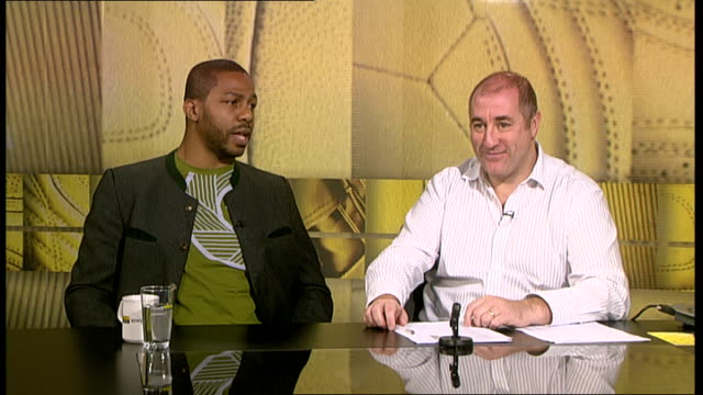 monte barratt interview previewing his fight with david haye monte barratt studio interview continued sot on calzaghejones bout - david haye stock videos and b-roll footage