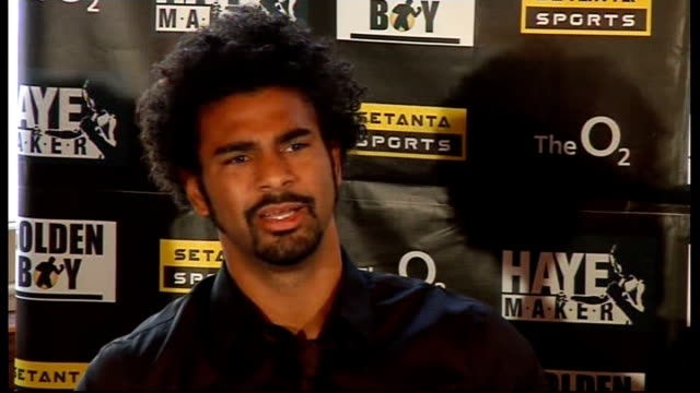 monte barrett and david haye press conference david haye press conference sot on barrett being a worthy opponent adam booth press conference sot on... - david haye stock videos and b-roll footage