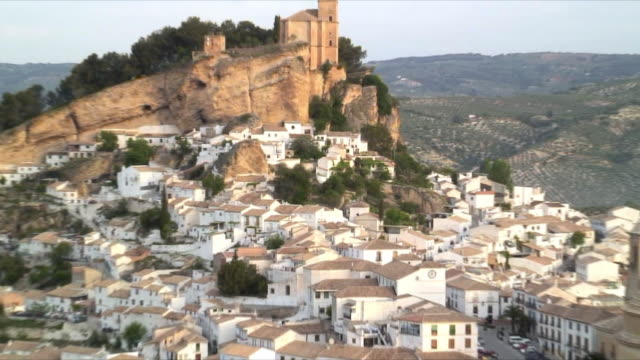 MS ZO HA WS Montefrio town with fortress on top, Granada  Andalucia  Spain