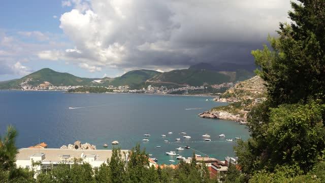 montenegro coastline scenics - coastline stock videos & royalty-free footage