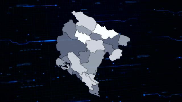 Montenegro netwerk kaart