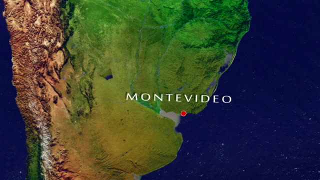 montevideo 4k  zoom in - montevideo stock videos & royalty-free footage