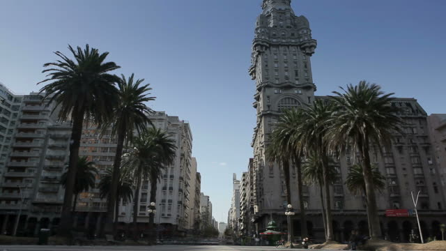 montevideo independencia square - montevideo stock videos & royalty-free footage