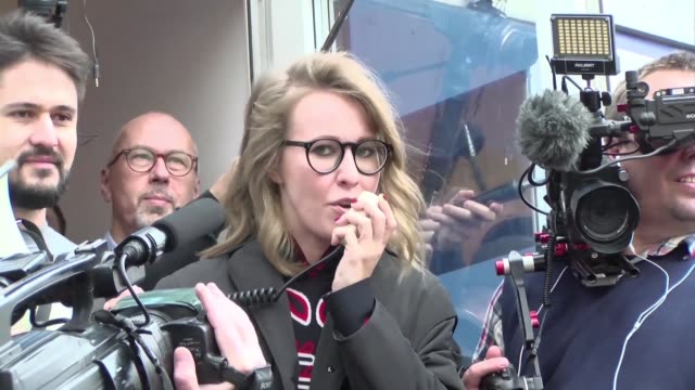 A month after the announcement of her candidacy for the Russian presidential election in March 2018 Ksenia Sobchak a TV star close to the opposition...