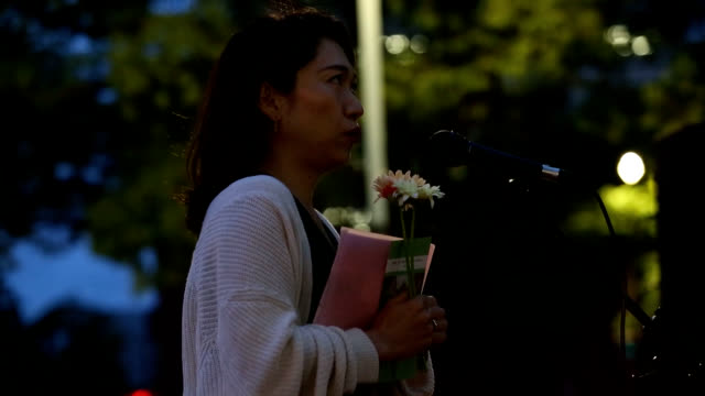 a monthly demonstration protesting recent acquittals in rape trials has spread from tokyo to across the nation bringing together sexual assault... - insel honshu stock-videos und b-roll-filmmaterial