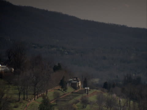 Monticello estate lies nestled in the wooded rolling hills of Virginia.