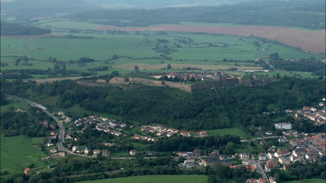 montmedy citadel  - aerial view - lorraine, meuse, arrondissement de verdun, france - fortress stock videos and b-roll footage