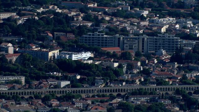モンペリエ -航空写真-ラングドックルーション、hérault、区 モンペリエ,フランス - モンペリエ点の映像素材/bロール