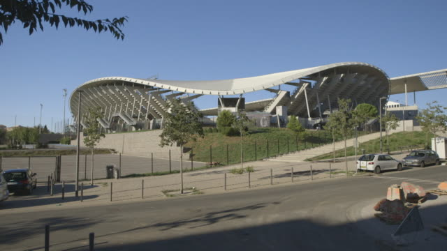montpellier altrad stadium exteriors the rugby union stadium in france - モンペリエ点の映像素材/bロール
