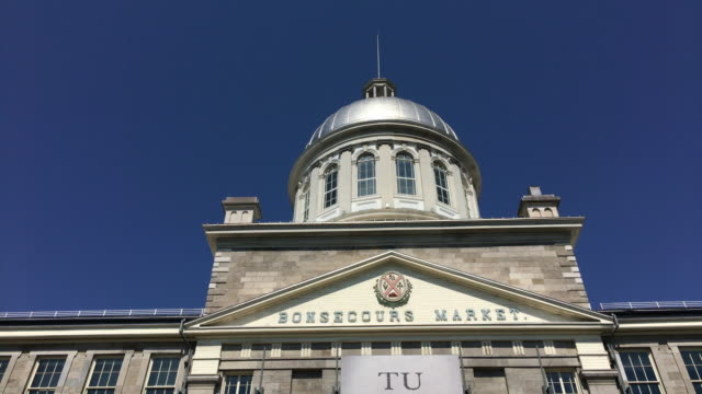 montreal, canada: the bonsecours market in the historic district which is a tourism or travel must see place - international landmark stock videos & royalty-free footage