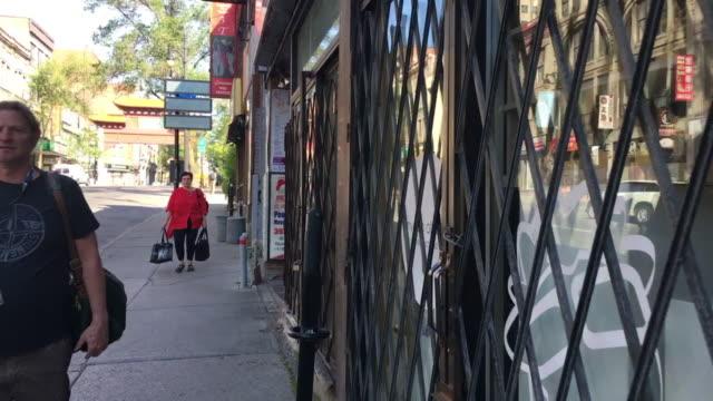 Montreal city Chinatown scene, Canada