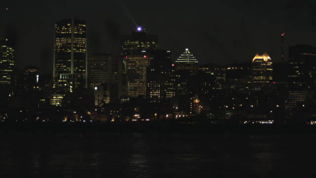 WS Montreal City Skyline at night / Montreal, Quebec, Canada
