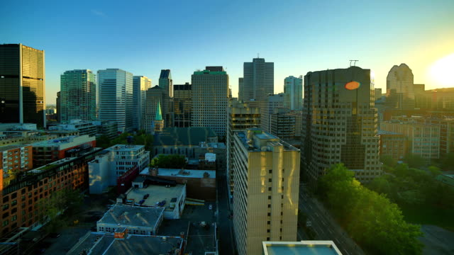montreal giorno alla notte, time-lapse - montreal video stock e b–roll