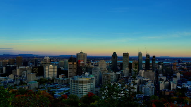 montreal: day to night time-lapse - montreal video stock e b–roll