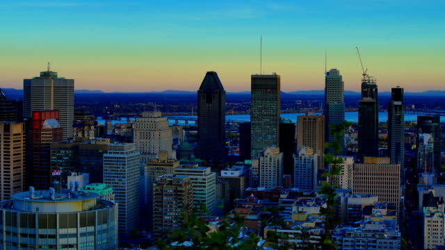 montreal: day to night time-lapse - montreal stock videos and b-roll footage