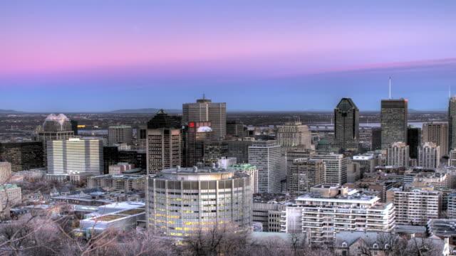 Montreal downtown time lapse dal giorno alla notte